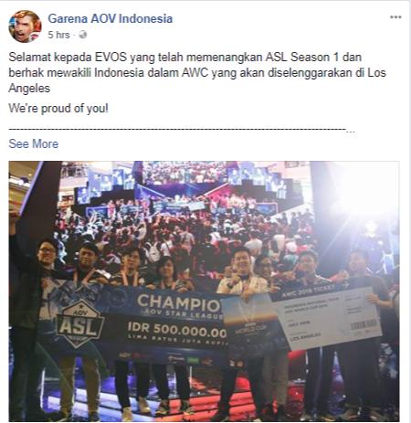 Mobile Legends Gagal Terpilih Menjadi Cabang Asian Games 2018