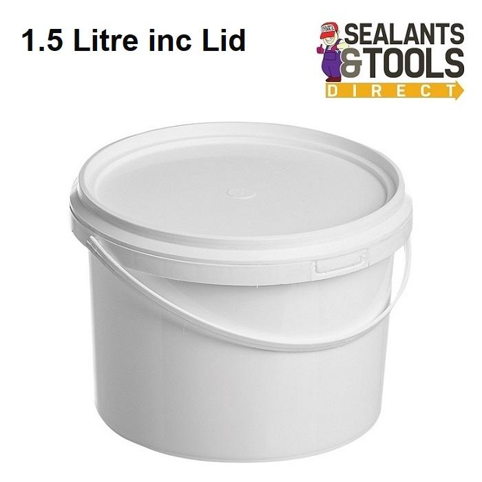 Plastic Paint Kettle Bucket 1.5 Litre Container inc Lid