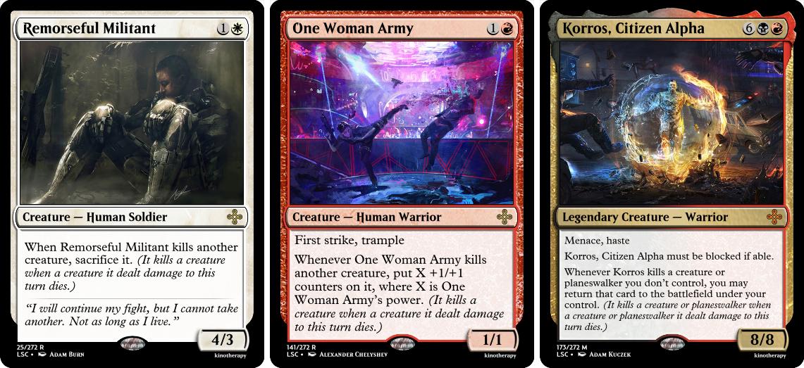 Remorseful Militant, One Woman Army, Korros, Citizen Alpha