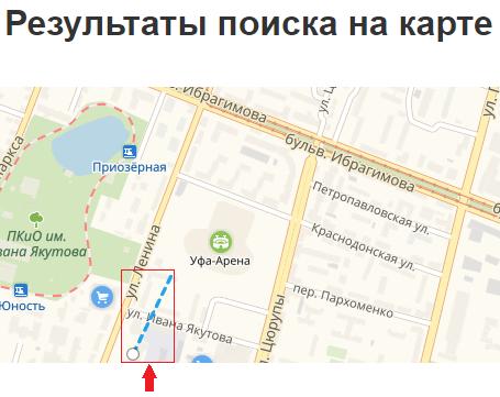 Первая точка на карте