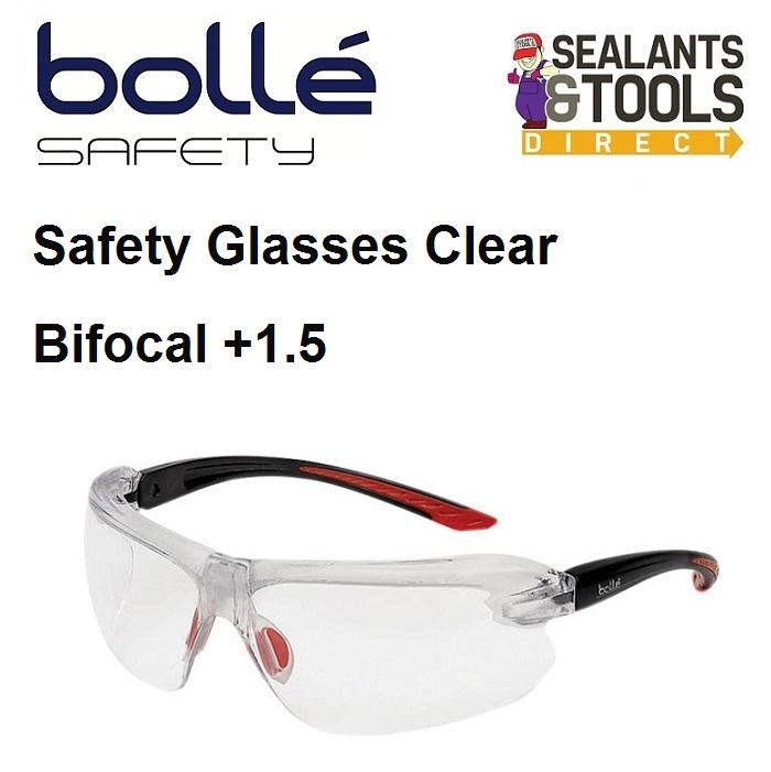 Bolle IRI-s Safety Glasses Bifocal Reading +1.5