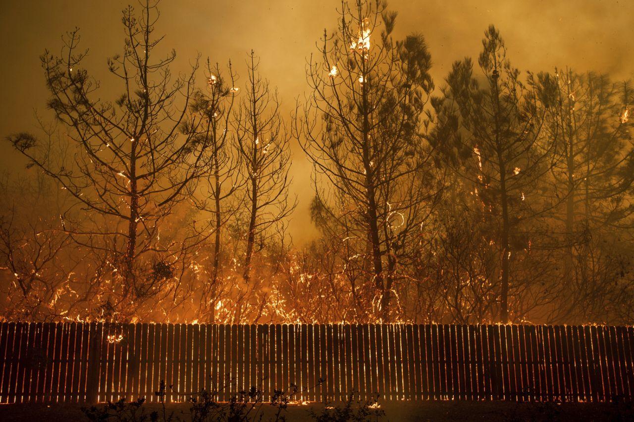 Лесной пожар уничтожил город Парадайс на севере Калифорнии