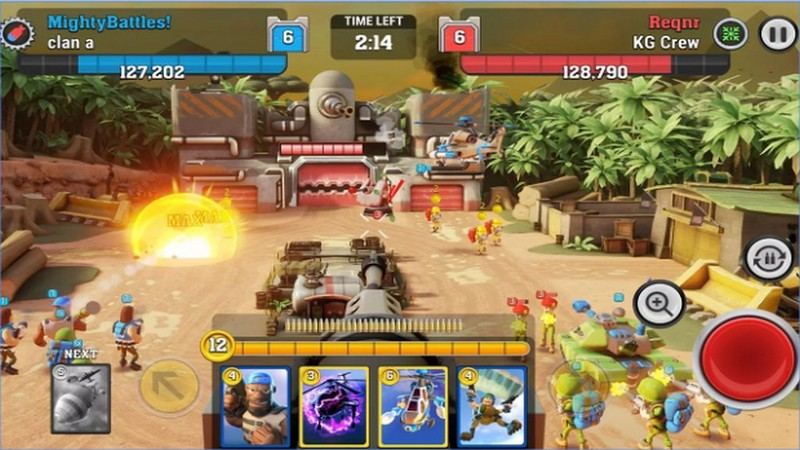 Mighty Battle - Game Mobile cực chất kết hợp Beach Head với Clash Royale