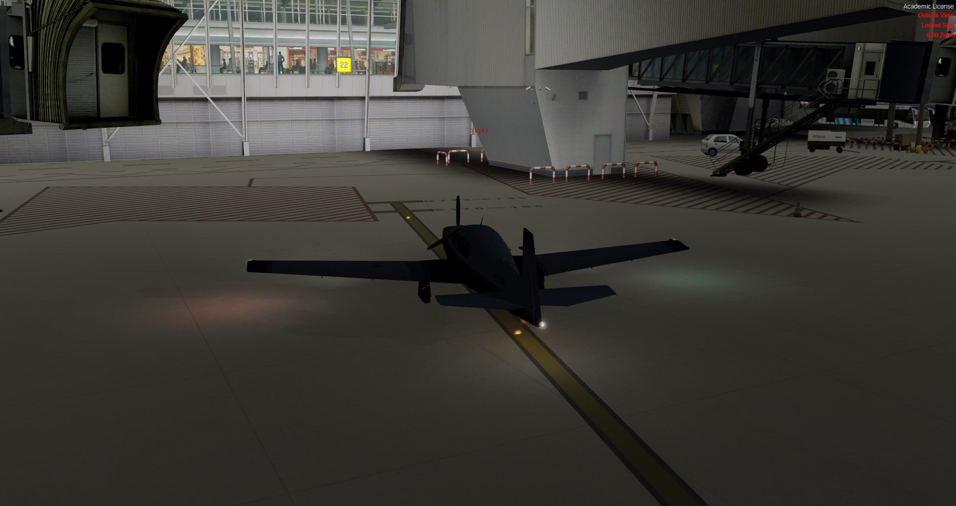 Adding dynamic landing lights to planes from P3D v3 and earlier