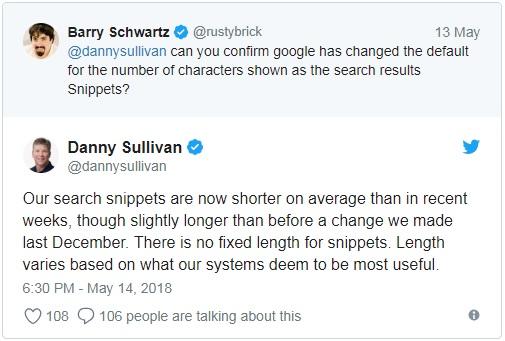 Danny Sullivan about meta description