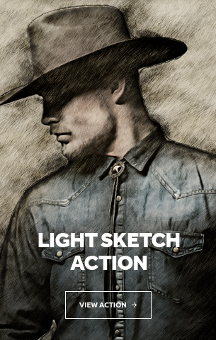 Light Sketch Photoshop Action