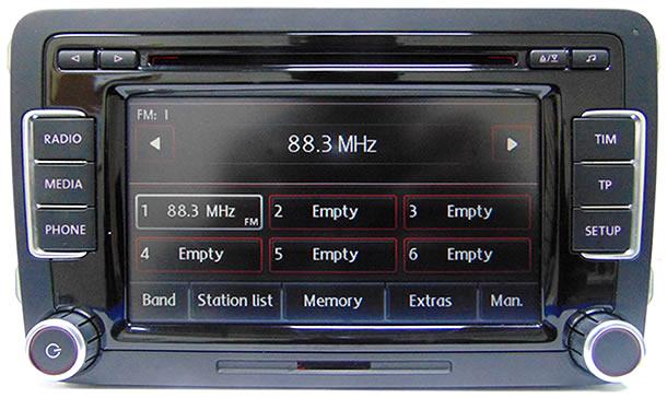 vw golf plus car stereo rcd 510 radio 6 cd changer. Black Bedroom Furniture Sets. Home Design Ideas