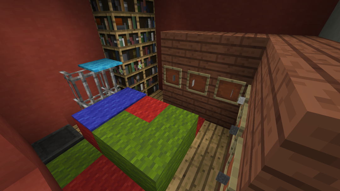 Bedroom and small library