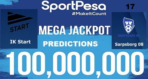 Sportpesatips - AK Start vs Sarpsborg Predictions & H2H:: Sportpesa Mega Jackpot Predictions