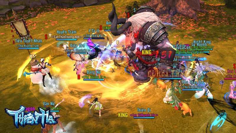 Trong Thiên Hạ Gamota game thủ lúc nào cũng cần phối hợp nhau để săn được đồ xịn