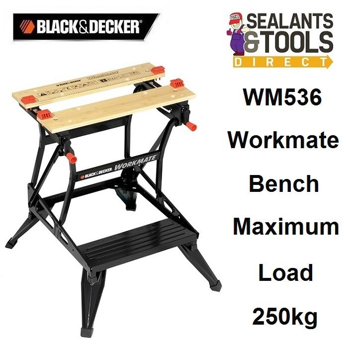 Black & Decker Workmate Dual Height Bench 250Kg WM536