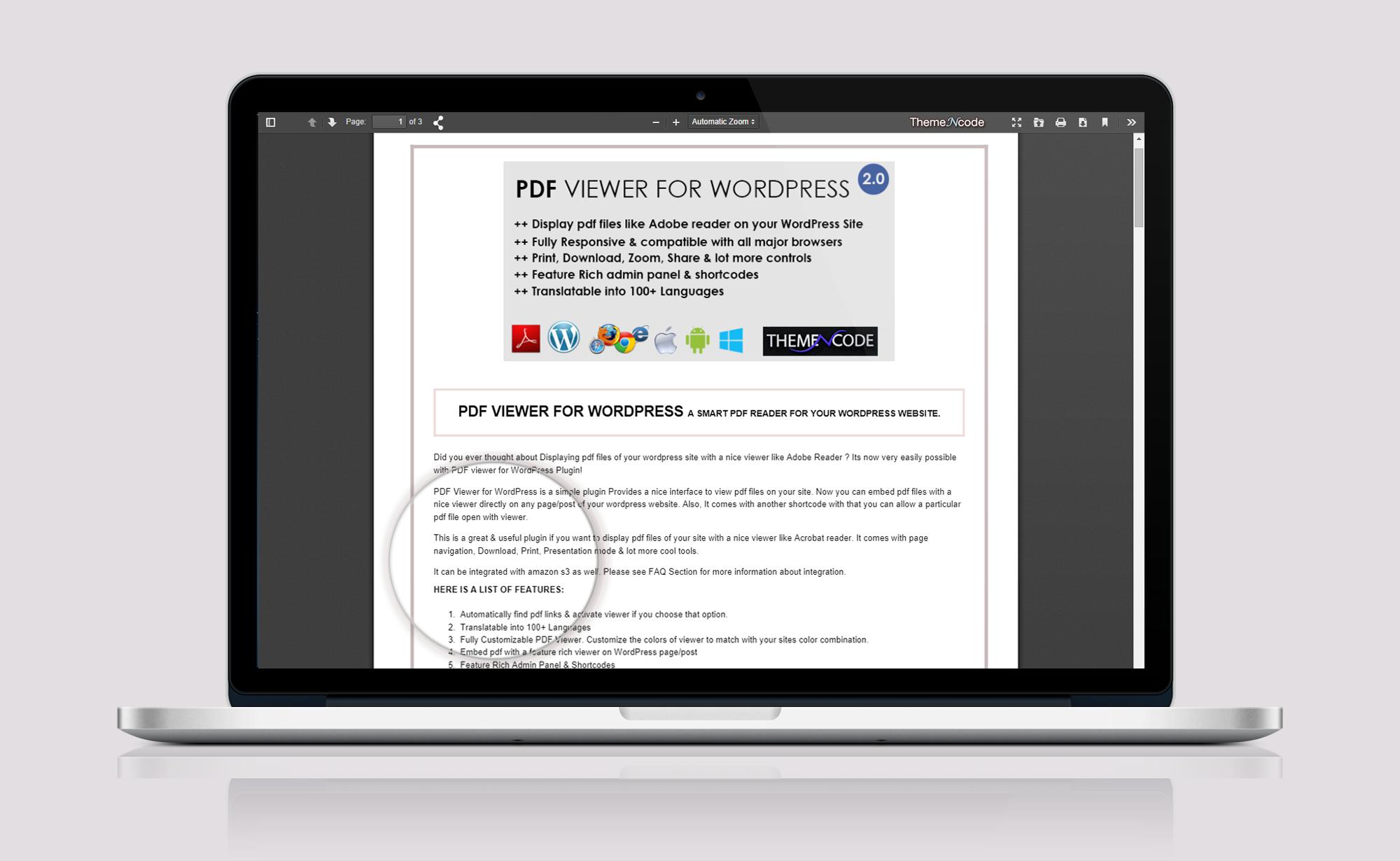 ThemeNcode PDF Reader Full View