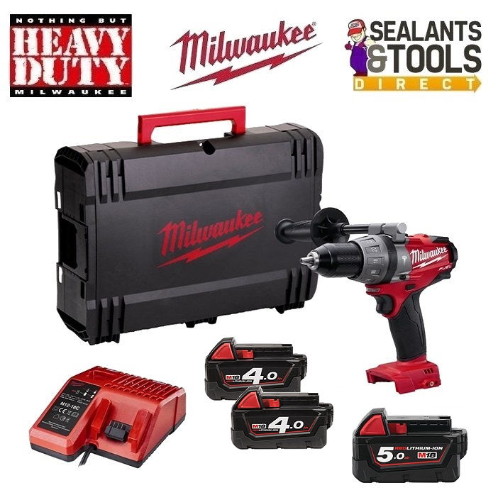 Milwaukee M18 Fuel Combi Hammer Drill 18V 4.0ah & 5.0Ah Li-ion