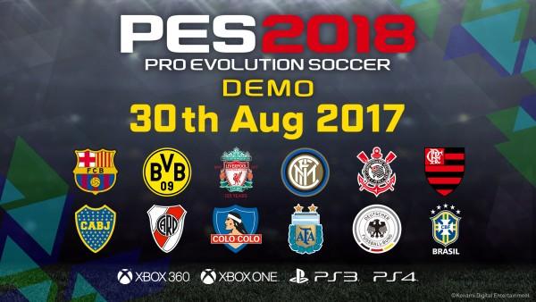 La demo de PES 2018 incluirá estos 12 equipos