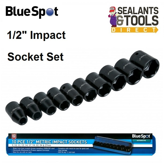 Blue Spot 01537 Impact Socket Set 1/2