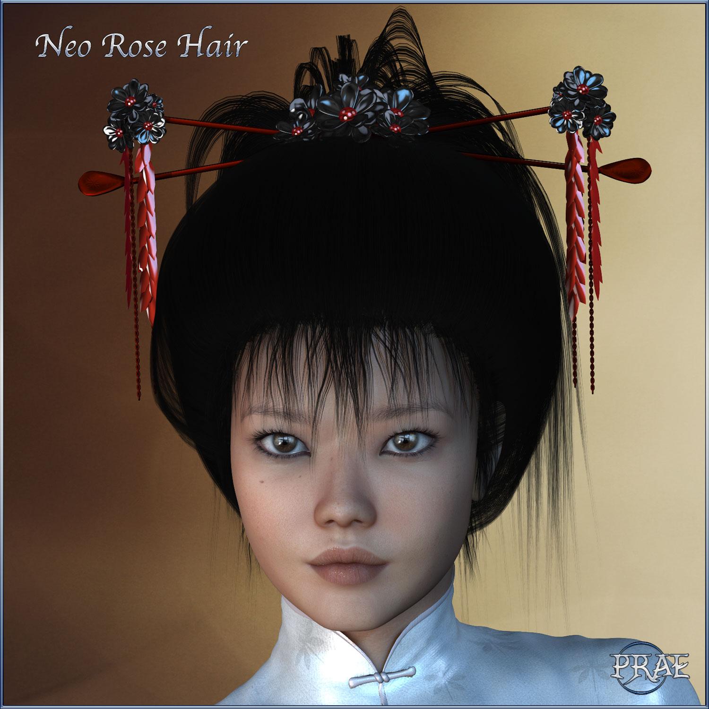 Prae-Neo Rose Hair for V4 Poser