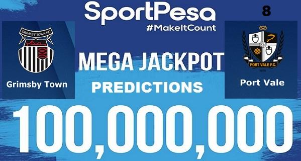 Sportpesatips - Grimsby vs Port Vale Predictions & H2H:: Sportpesa Mega Jackpot Predictions