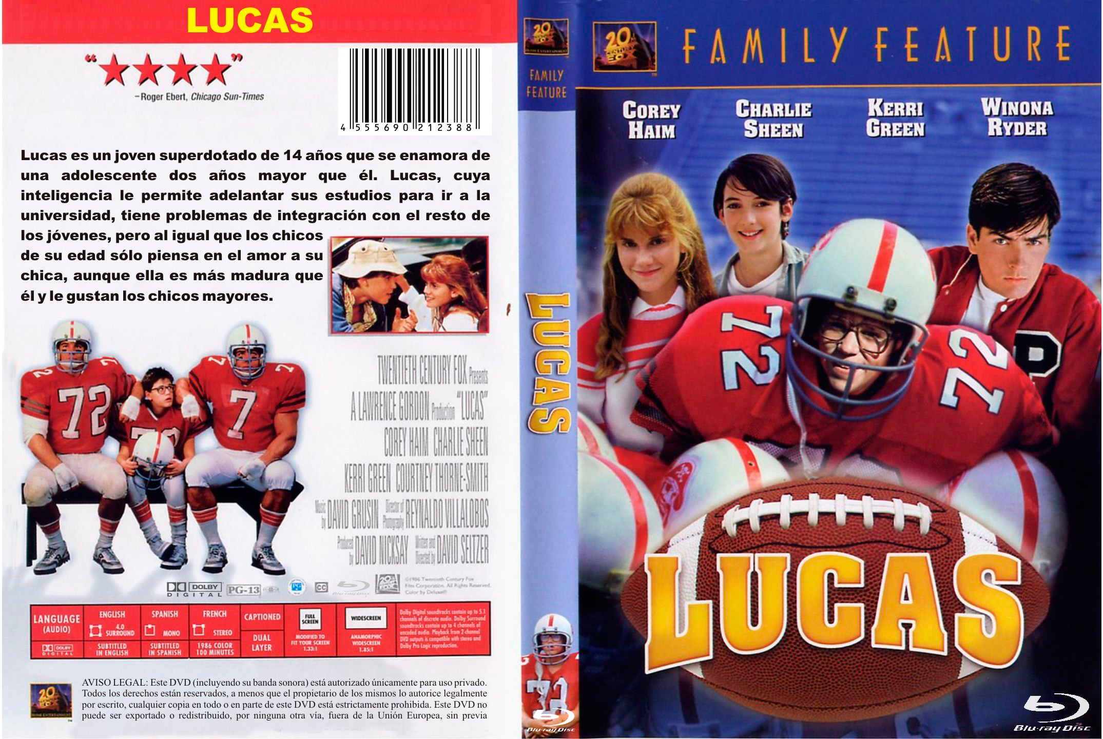 Lucas (1986)[1080p/Dual-Latino] [H264/BRrip]