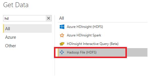connect to data on Hortonworks using webHDFS - Microsoft Power BI