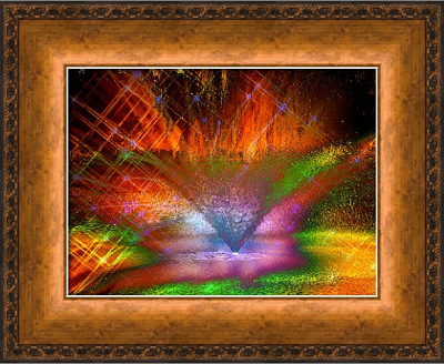 Surreal_Fountain_Art_Print_with_Copper_Bronze_Frame_VN4_Copy