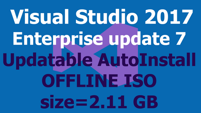 Visual Studio 2017 Enterprise Update OFFLINE ISO