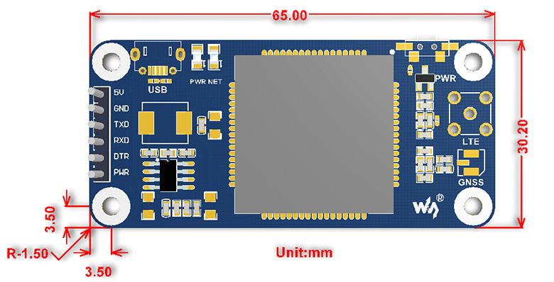 SIM7000_X_NB_Io_T_HAT_size