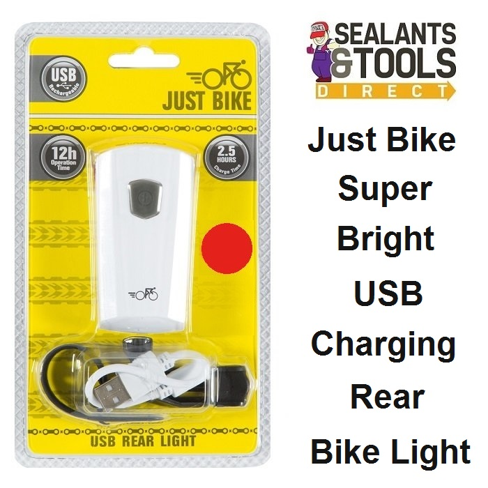 Just Bike USB Rechargeable Bicycle Cycle Rear Light 66001