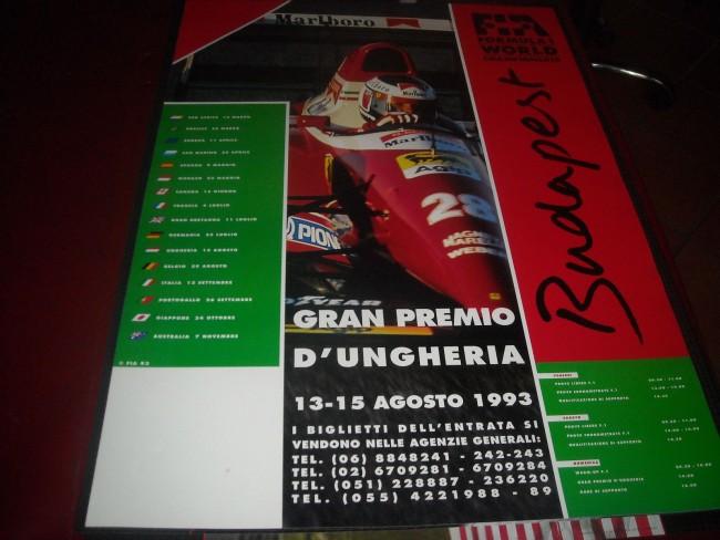 1993 HUNGARY F1 RACE POSTER