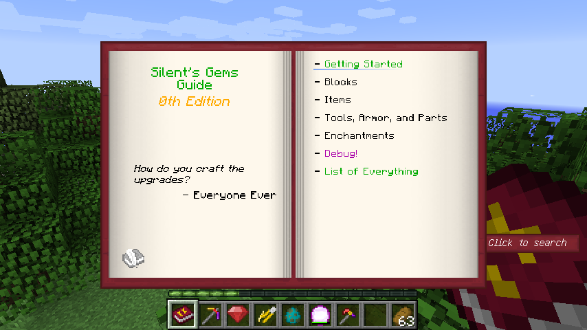 Guide book from Silent's Gems