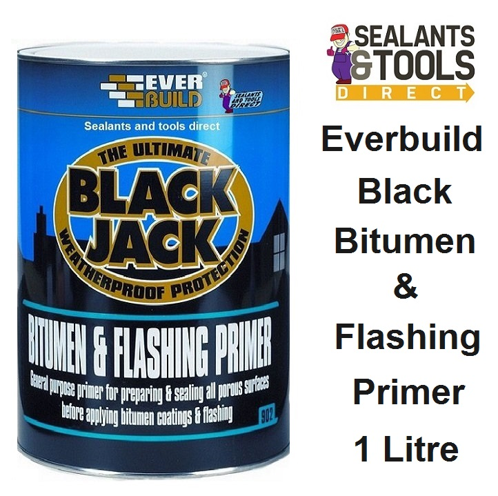 Everbuild 902 Bitumen & Flashing Primer 1 litre 90201