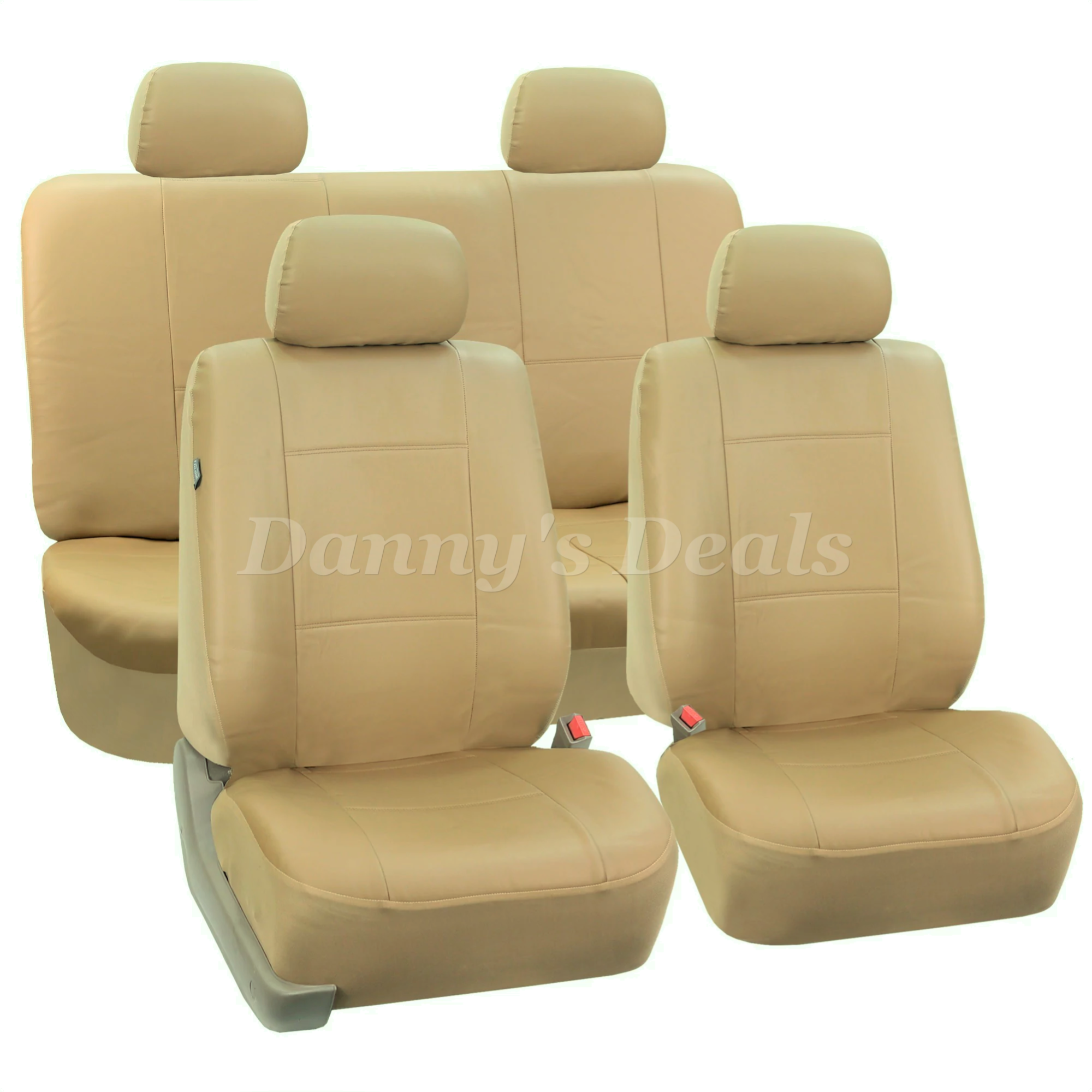Cream Beige Leather Look Car Seat Covers Cover For Hyundai