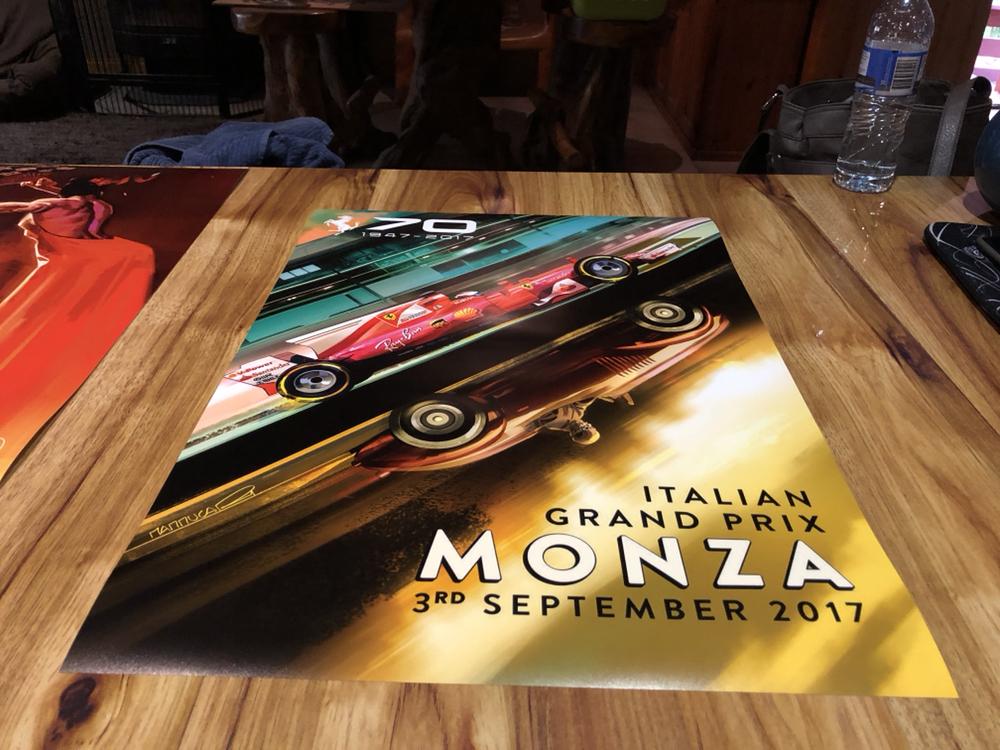 FORMULA 1 2017 F1 FERRARI GRAND PRIX RACE POSTER MONZA