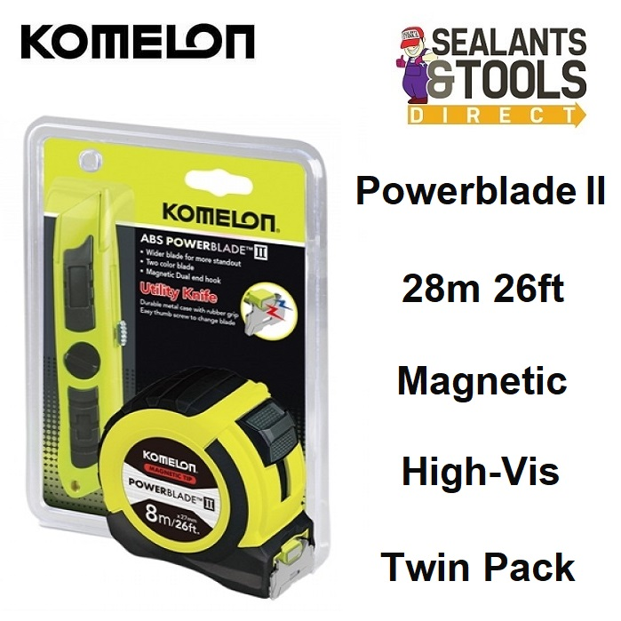 Komelon PowerBlade ll 8m Tape Measure & Knife MPT87KNIFE