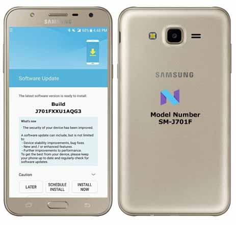 Samsung J7 NXT SM-J701F 7 0 Nougat root file