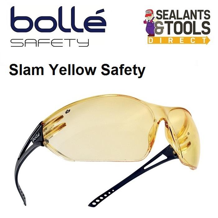 Bolle Slam Safety Glasses - Yellow SLAPSJ