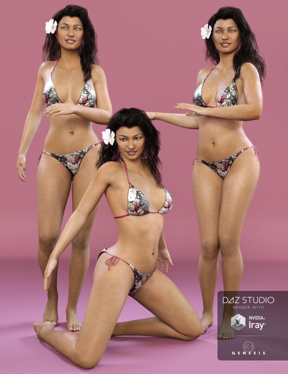 DA Beach Girl Poses for Kalea 7