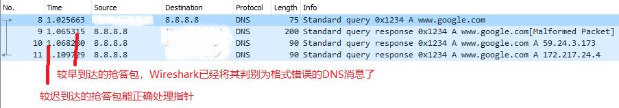 用包含指针的请求查询国外服务器的抓包结果