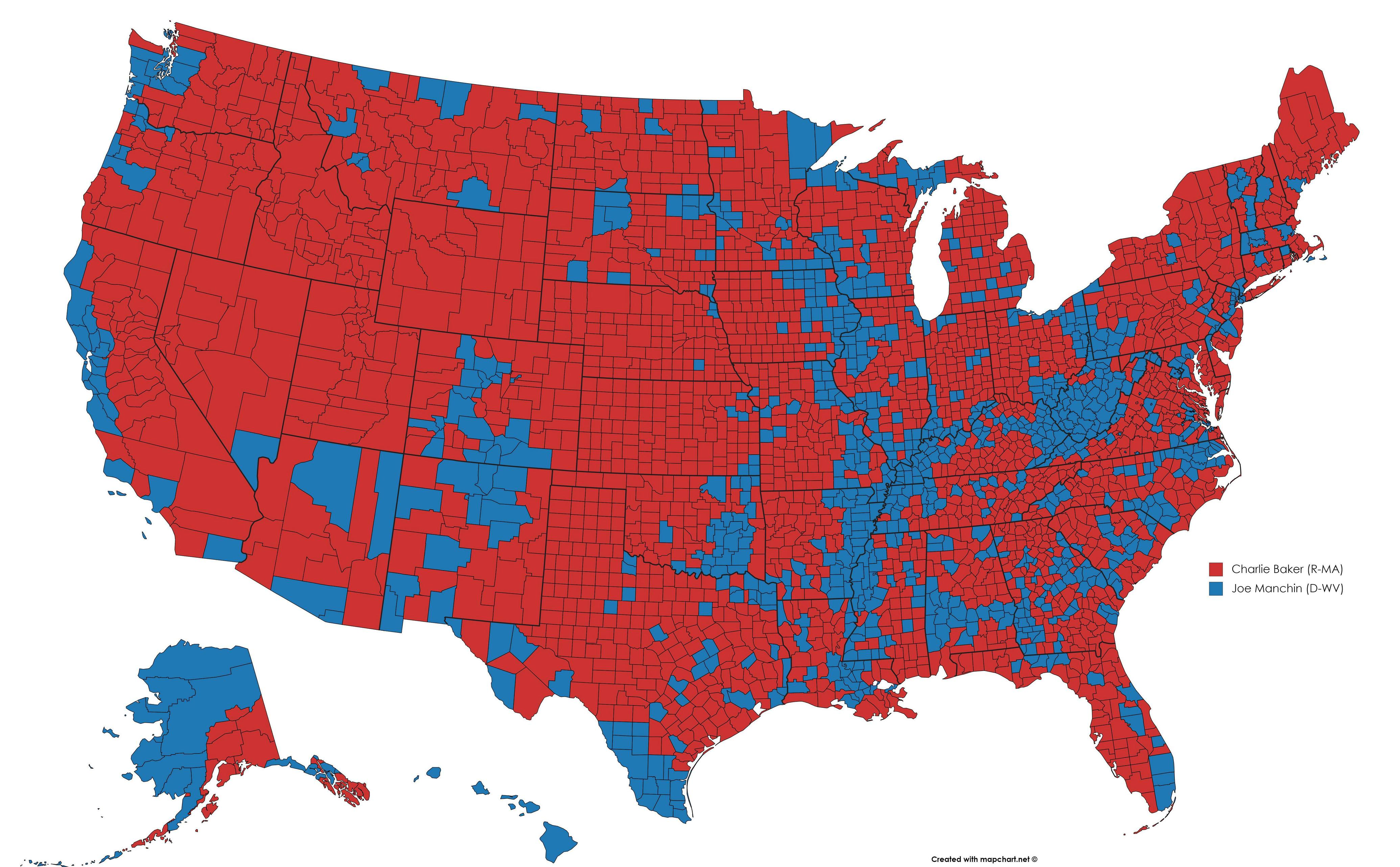 Post Random US Election County Maps Here on
