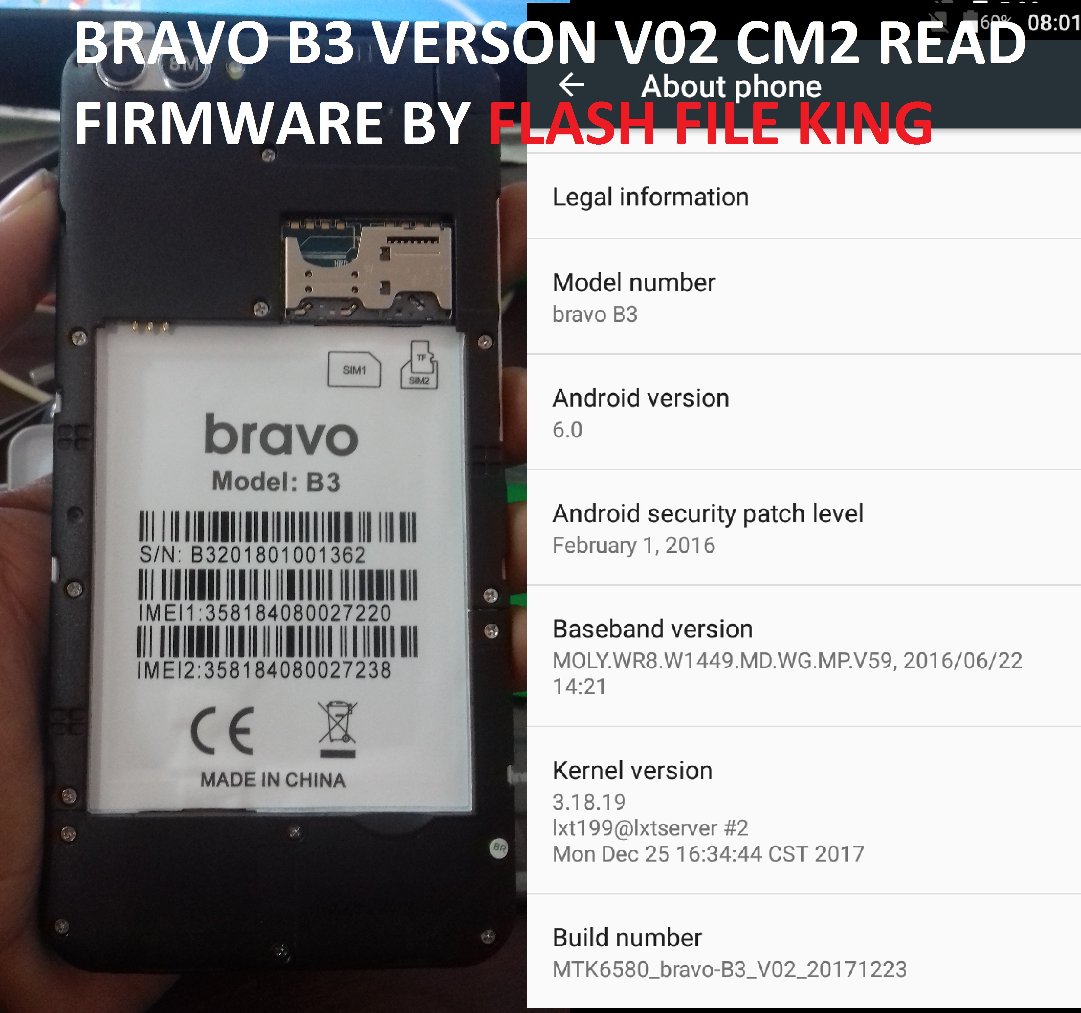 BRAVO B3 FLASH FILE (DEAD RECOVERY FIX) MT6580 6 0 TESTED FIRMWARE