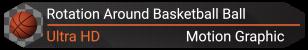Rotation of Classic Basketball Ball | 6 Looped Shots  - 3
