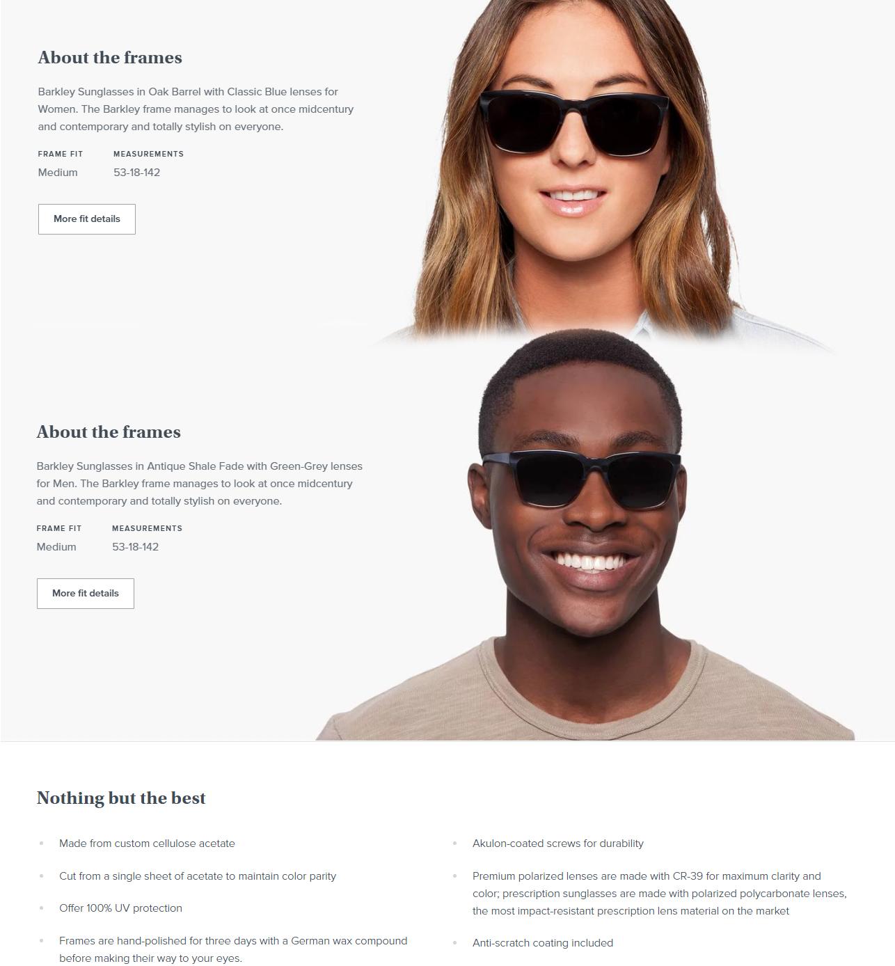 c4c0601d4e8 Nuevos Lentes De Sol Clásicos Unisex Barkley Warby Parker Moda ...