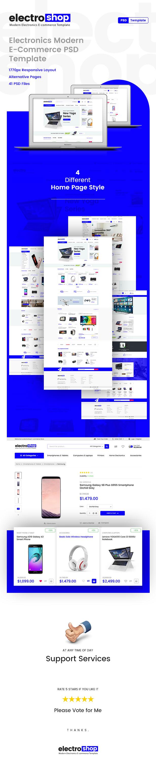 electroshop -Electronic E-commerce PSD Template