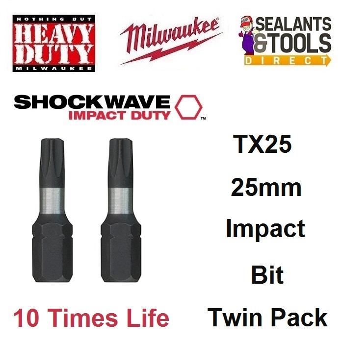 Milwaukee TX25 Torx Impact Bit 4932430879