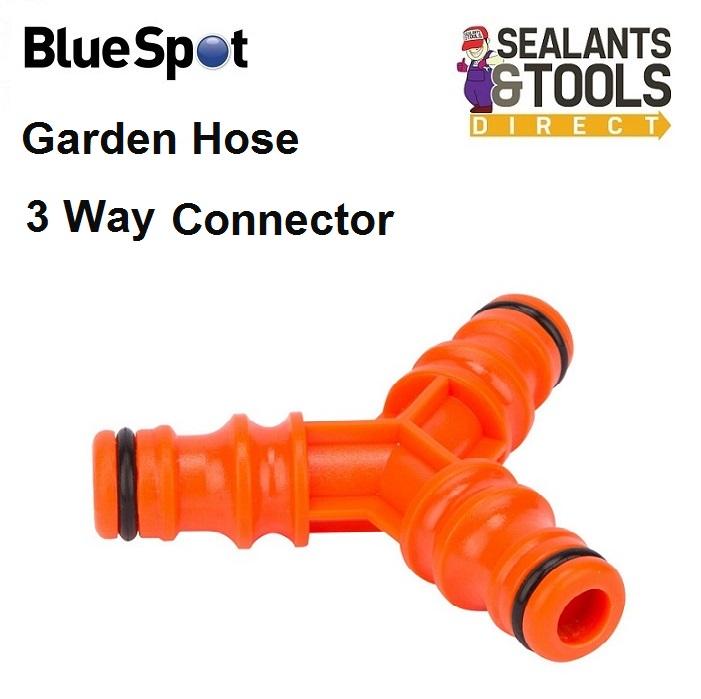Blue Spot 3 Way Garden Hose Pipe Connector Adapter Splitter 56061