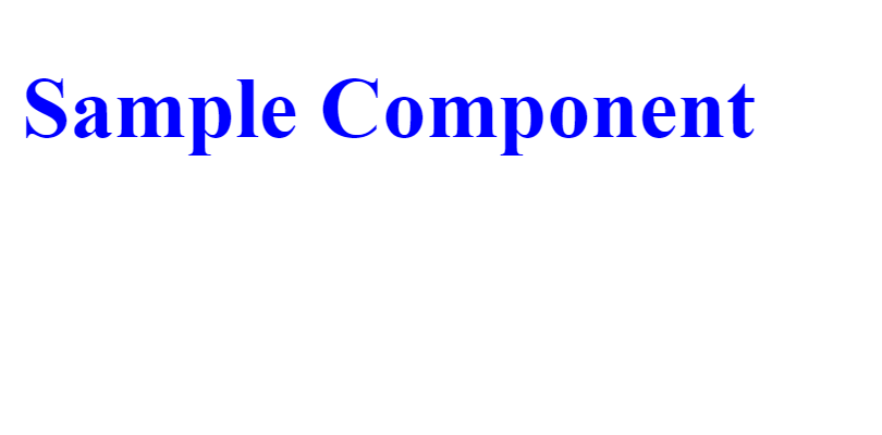 sample component rendering