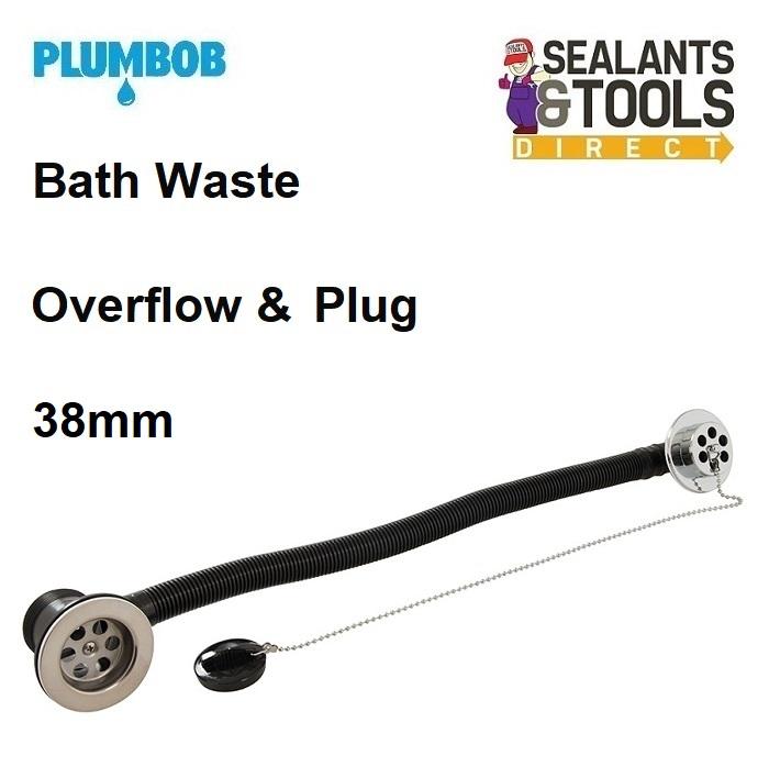 Plumbob Bath Waste Overflow Rubber Plug & Chain 601966