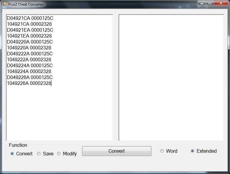 <b>Pcsx2 Cheat</b> Converter - Legends of Modding