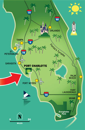 port charlotte florida map