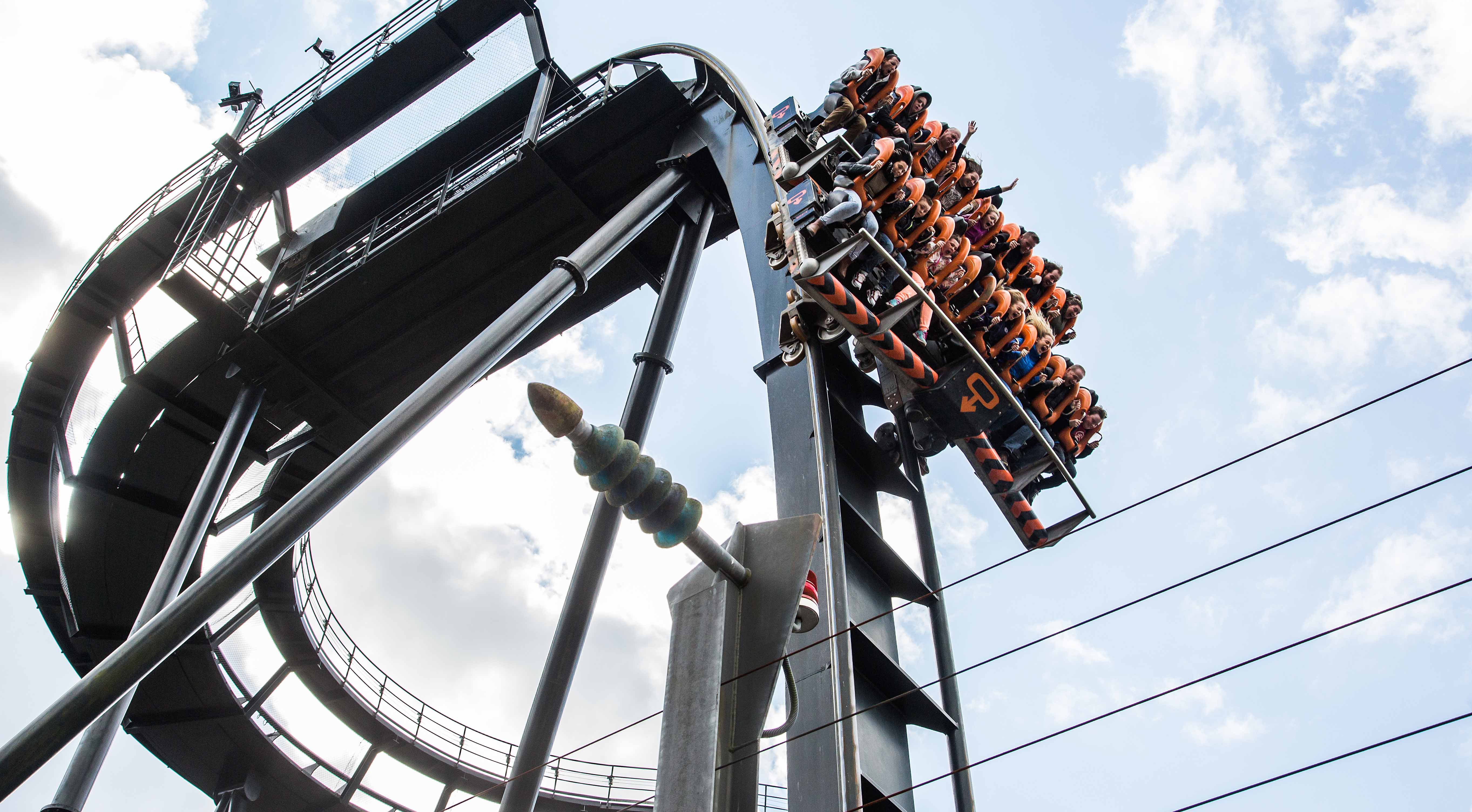 Oblivion roller coaster at Alton Towers