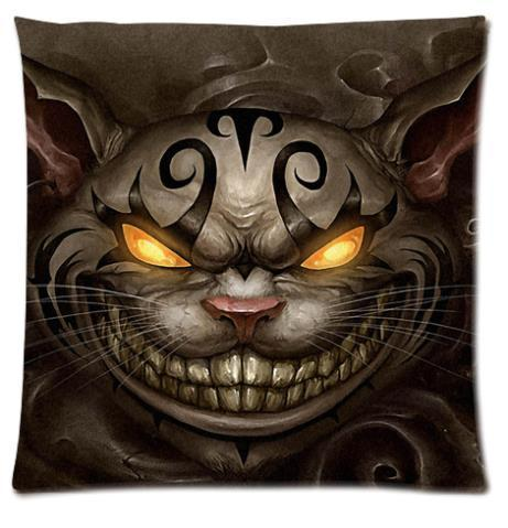 Home_Sofa_Soft_Square100_Cotton_Cute_Cat_Pet_Poo_Evil_Black_r_Pillow_Covers_Case_Custom